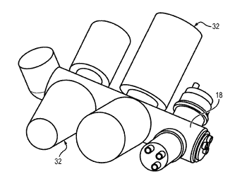 Equipment support of a turbo machine comprising a reducer with magnetic gears