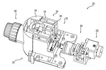 Microscope having a stage which is movable manually or motorized