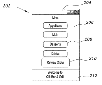 Payment and ordering system and application for a mobile client
