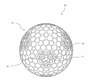 Golf ball having dimples with concentric or non-concentric grooves