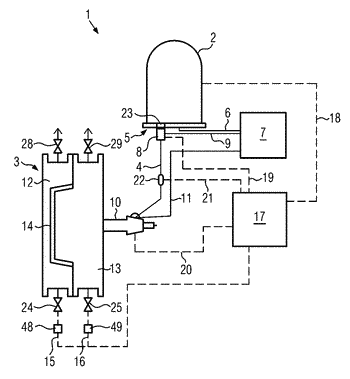 Method for controlling a step of a process automatically carried out using a machine and ...