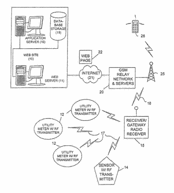 Method and system for providing web-enabled cellular access to meter reading data