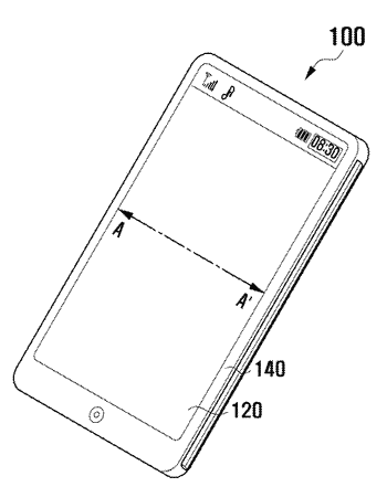 Slim type touch panel and mobile terminal including the same