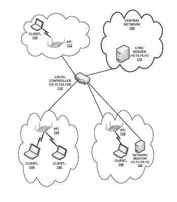 System and method for displaying mobility trails for mobile clients