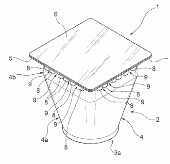 Capsule or cartridge and infusion assembly for the preparation of a beverage, in particular coffee