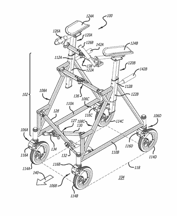 Collapsible upright wheeled walker apparatus