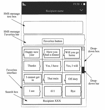 Sms message processing method for mobile terminal and mobile terminal