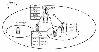 Enhanced mechanism of buffer status reporting to multiple schedulers in a wireless network