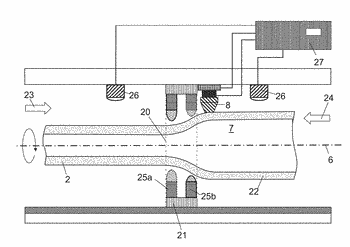 Method for producing a tube of glass
