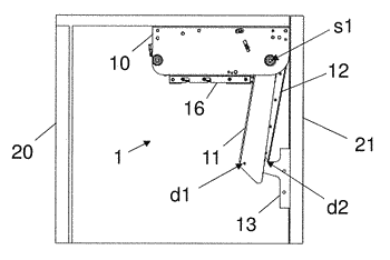 Supporting device for a furniture flap