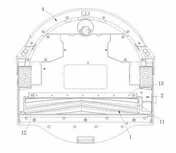 Floor washer cleaning device and floor washer