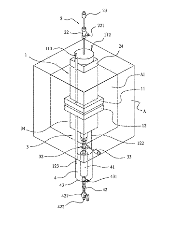 Solid oxide electrolysis cell with test apparatus