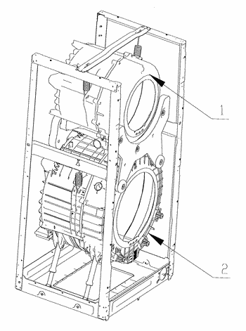 A control method of a double-drum washing machine