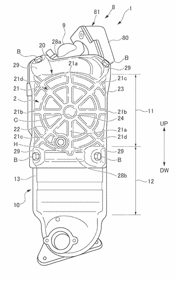 Exhaust gas purification device for internal combustion engine