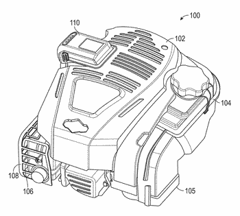 Internal combustion engines including electric starting system powered by lithium-ion battery
