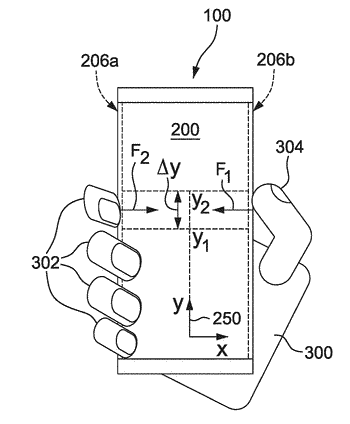 Electronic device with touch sensitive, pressure sensitive and displayable sides
