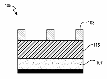 Method for patterning a substrate using a layer with multiple materials