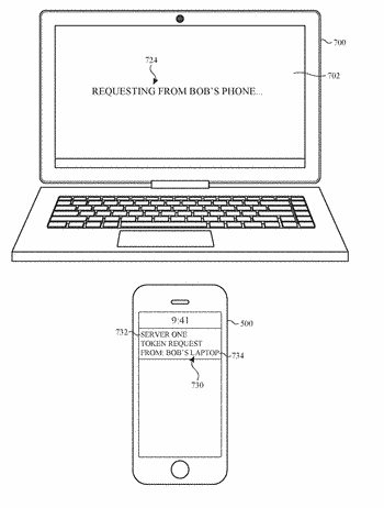 User interface for a device requesting remote authorization