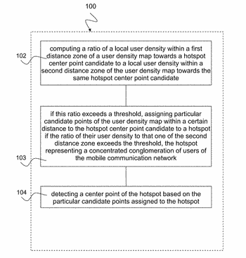 Method and device for hotspot detection based on erroneous user location data