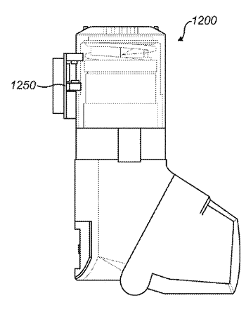 Compliance monitoring module for a breath-actuated inhaler