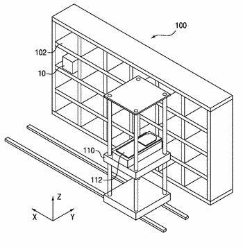 Stocker for receiving cassettes and method of teaching a stocker robot disposed therein