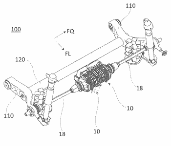 Electric drive unit for a wheel of a motor vehicle and wheel suspension for the ...