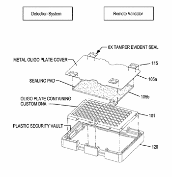 Tamper resistant assembly for securing valuable material