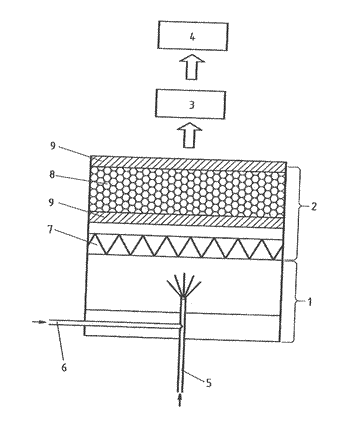 Process for producing synthetic quartz glass using a cleaning device