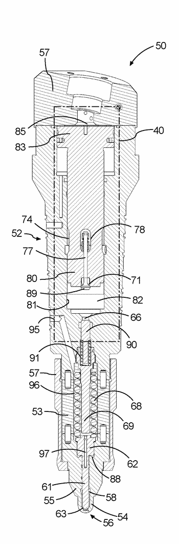 Large two-stroke compression-ignited internal combustion engine with fuel injection system for low flashpoint fuel and ...