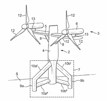 Support structure for tidal energy converter system