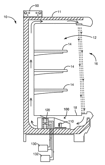 Multi-circuit cooling element for a refrigeration system