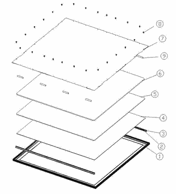 Led panel light and frame component