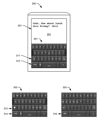 Gestures for keyboard switch