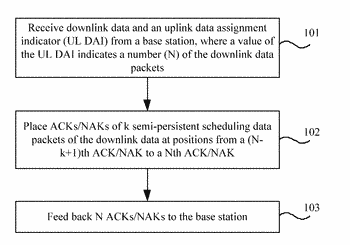 Method and apparatus for feeding back and receiving acknowledgement information of semi-persistent scheduling data packets