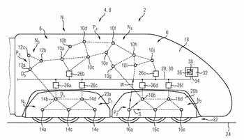 Establishing an ad hoc communication network, and priority-controlled data transmission in a rail vehicle