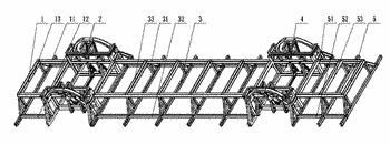 Wheel beam type axleless vehicle frame