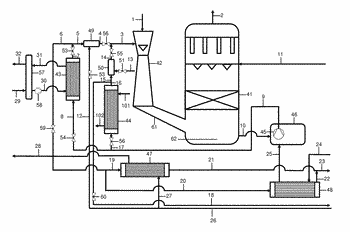 Process and plant for improved energy-efficient production of sulfuric acid