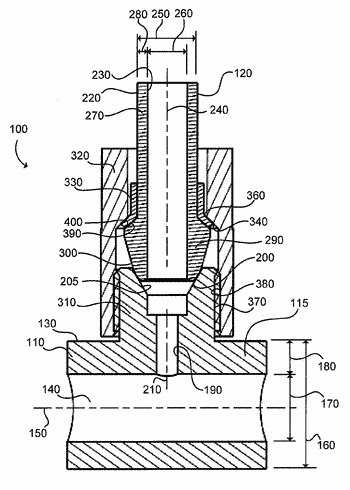 Sealing structure for gaseous fuel