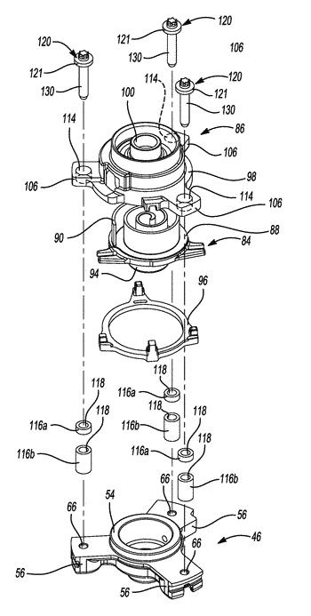 Compressor having a sleeve guide assembly