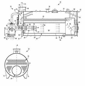 Burner with adjustable end cap and method of operating same