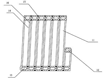 Barrel-shaped component as well as vessel and motor housing based on it