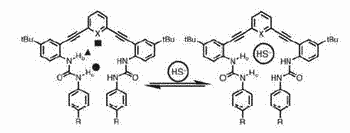Synthetic receptors for hydrosulfide