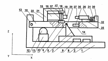 Scanning probe microscope combined with a device for modifying the surface of an object