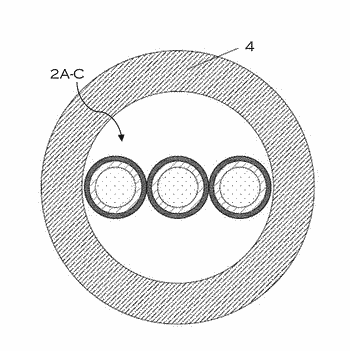 Metal clad cable having parallel laid conductors