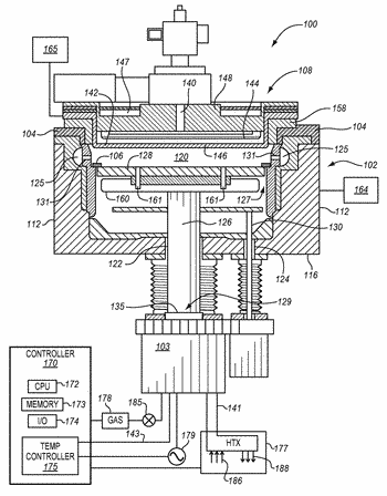 High power electrostatic chuck with aperture-reducing plug in a gas hole