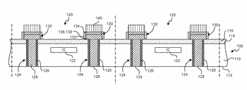 Collars for under-bump metal structures and associated systems and methods