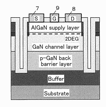 Semiconductor device, fabrication method for semiconductor device, power supply apparatus and high-frequency amplifier