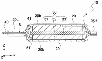 Electric storage cell, covering film and electric storage module