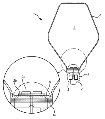 Solid-state lighting device having a wireless communication antenna