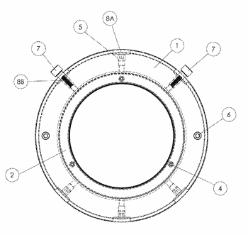 System for grounding bearings of rotary electric machines, and corresponding electric machine